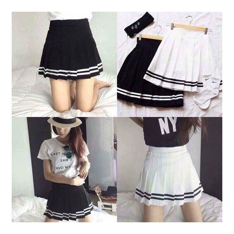 Striped student skirt