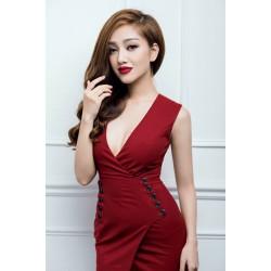 Sexy neckline dress 141