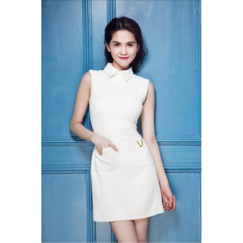 Ngoc Trinh white dress