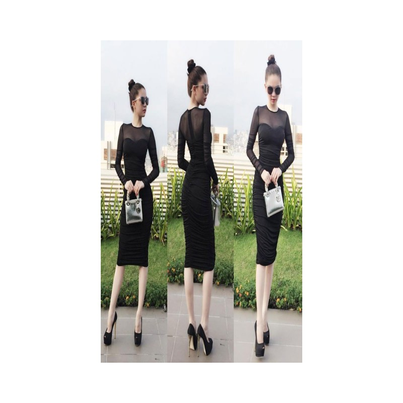 Black dress Ngọc Trinh