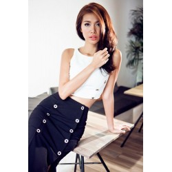 Black and white dress set 362