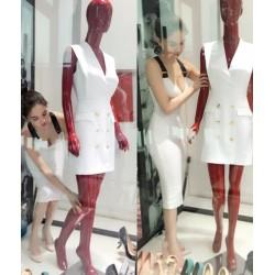 Elegant white dress 379