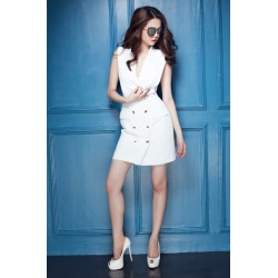 Robe blanche élégante