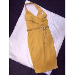 Jacket collar dress 435