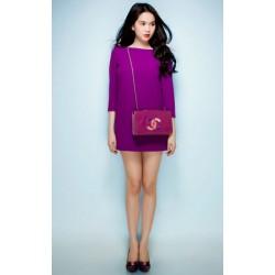 Robe sexy violette